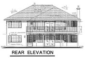 Ranch Style House Plan - 3 Beds 2 Baths 1597 Sq/Ft Plan #18-145 Exterior - Rear Elevation