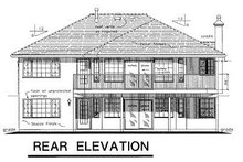 Home Plan Design - Ranch Exterior - Rear Elevation Plan #18-145