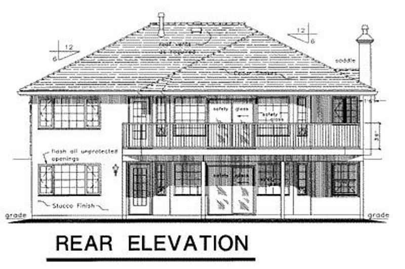 Ranch Exterior - Rear Elevation Plan #18-145 - Houseplans.com