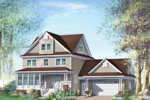 Country Exterior - Front Elevation Plan #25-4688