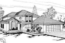 Home Plan - Mediterranean Exterior - Front Elevation Plan #124-244