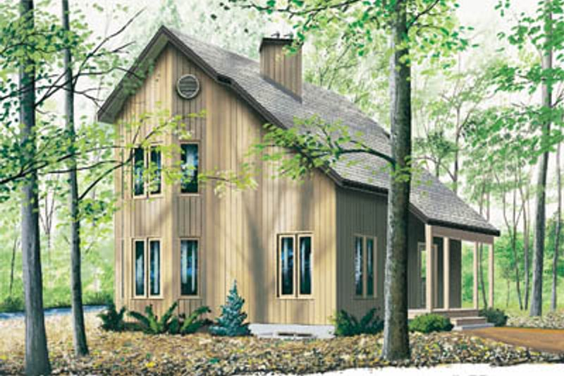 Modern Style House Plan - 2 Beds 1.5 Baths 1290 Sq/Ft Plan #23-2145 Exterior - Front Elevation