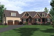 Traditional Style House Plan - 3 Beds 4 Baths 2821 Sq/Ft Plan #1071-20 Exterior - Front Elevation