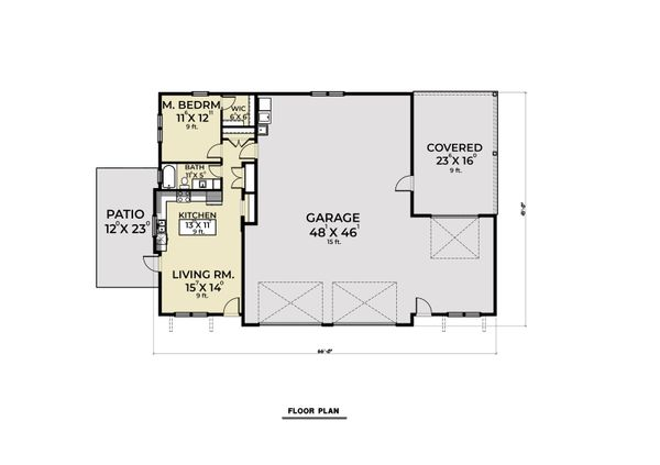Dream House Plan - Farmhouse Floor Plan - Main Floor Plan #1070-121