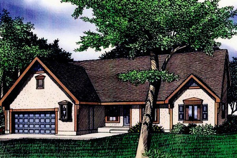Traditional Exterior - Front Elevation Plan #405-195