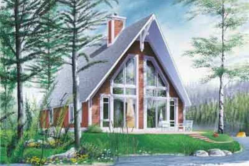 Exterior - Front Elevation Plan #23-501 - Houseplans.com