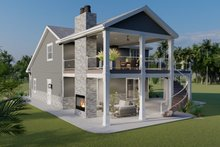 Dream House Plan - Traditional Exterior - Rear Elevation Plan #1060-76