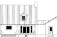 Country Exterior - Rear Elevation Plan #406-229
