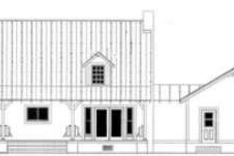 Country Exterior - Rear Elevation Plan #406-229 - Houseplans.com