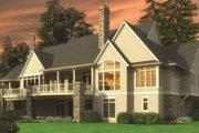 European Style House Plan - 5 Beds 5.5 Baths 7031 Sq/Ft Plan #48-362 Exterior - Rear Elevation