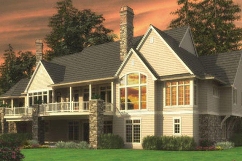European Exterior - Rear Elevation Plan #48-362 - Houseplans.com