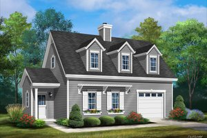 Country Exterior - Front Elevation Plan #22-603