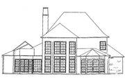 European Style House Plan - 4 Beds 4 Baths 3658 Sq/Ft Plan #301-109 Exterior - Rear Elevation