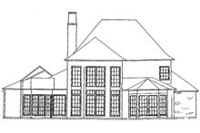 Dream House Plan - European Exterior - Rear Elevation Plan #301-109