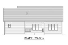 Ranch Exterior - Rear Elevation Plan #1010-228