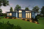 Contemporary Style House Plan - 3 Beds 2.5 Baths 1744 Sq/Ft Plan #48-946 Exterior - Rear Elevation