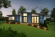 Home Plan - Contemporary Exterior - Rear Elevation Plan #48-946