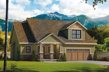 House Design - Craftsman Exterior - Front Elevation Plan #20-2261