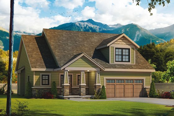 Craftsman Exterior - Front Elevation Plan #20-2261