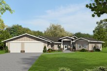 Home Plan - Ranch Exterior - Front Elevation Plan #117-874