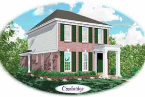 Southern Exterior - Front Elevation Plan #81-104