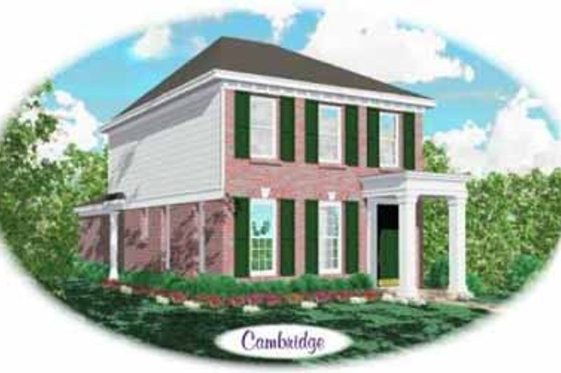 Southern Style House Plan - 2 Beds 2.5 Baths 1320 Sq/Ft Plan #81-104 Exterior - Front Elevation