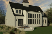 Modern Style House Plan - 3 Beds 3.5 Baths 2990 Sq/Ft Plan #926-6 Exterior - Rear Elevation