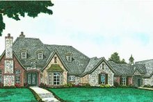 Architectural House Design - European Exterior - Front Elevation Plan #310-1294