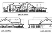 Craftsman Style House Plan - 3 Beds 2.5 Baths 2778 Sq/Ft Plan #60-298 Exterior - Rear Elevation