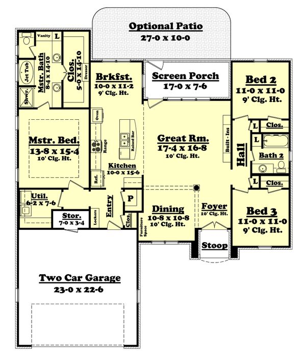 Traditional Floor Plan - Main Floor Plan Plan #430-71