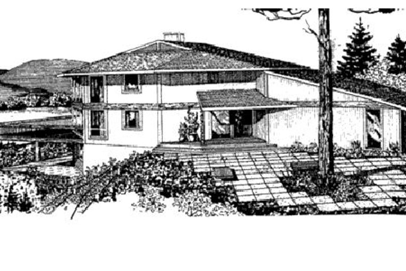 Contemporary Exterior - Rear Elevation Plan #320-300 - Houseplans.com