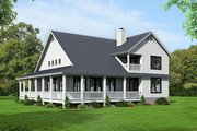 Country Style House Plan - 3 Beds 2.5 Baths 2095 Sq/Ft Plan #932-33 Exterior - Other Elevation