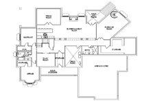 Colonial Floor Plan - Lower Floor Plan Plan #5-336
