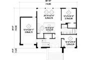 Contemporary Style House Plan - 2 Beds 1 Baths 1158 Sq/Ft Plan #25-4877 Floor Plan - Main Floor