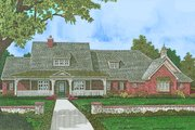 European Style House Plan - 4 Beds 3.5 Baths 3010 Sq/Ft Plan #310-1303 Exterior - Front Elevation