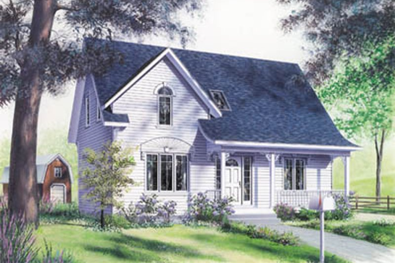 Country Style House Plan - 3 Beds 2.5 Baths 1458 Sq/Ft Plan #23-224 Exterior - Front Elevation