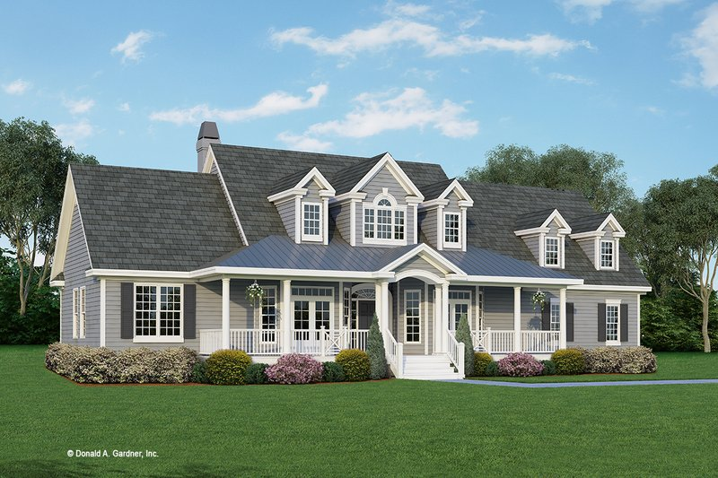 Farmhouse Style House Plan - 4 Beds 2 Baths 1965 Sq/Ft Plan #929-727 Exterior - Front Elevation