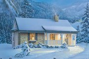 Cottage Style House Plan - 1 Beds 1 Baths 647 Sq/Ft Plan #57-269 Exterior - Front Elevation