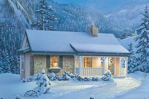 Cottage Exterior - Front Elevation Plan #57-269