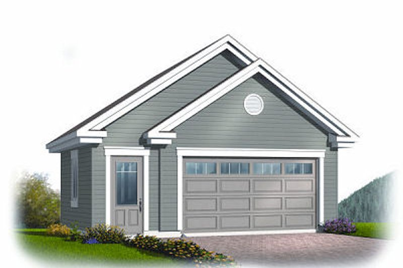 Exterior - Front Elevation Plan #23-770