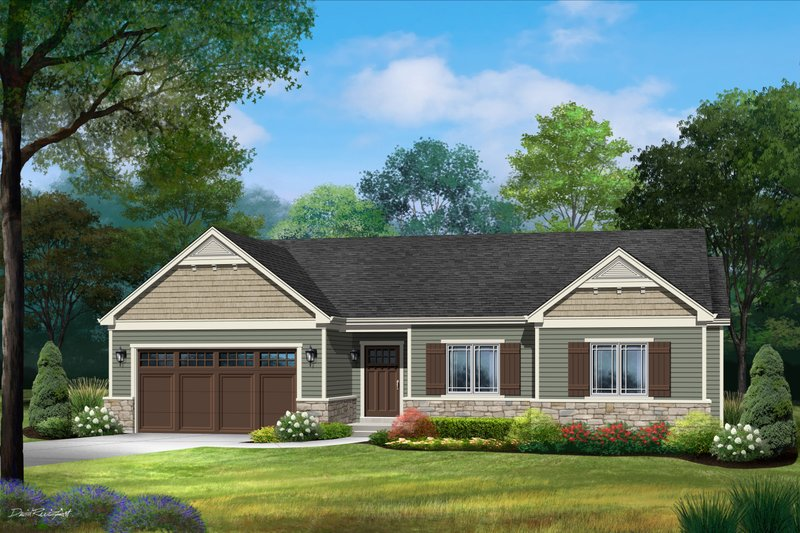 Dream House Plan - Ranch Exterior - Front Elevation Plan #22-623