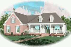 Colonial Exterior - Front Elevation Plan #81-582