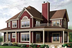 Country Exterior - Front Elevation Plan #23-744