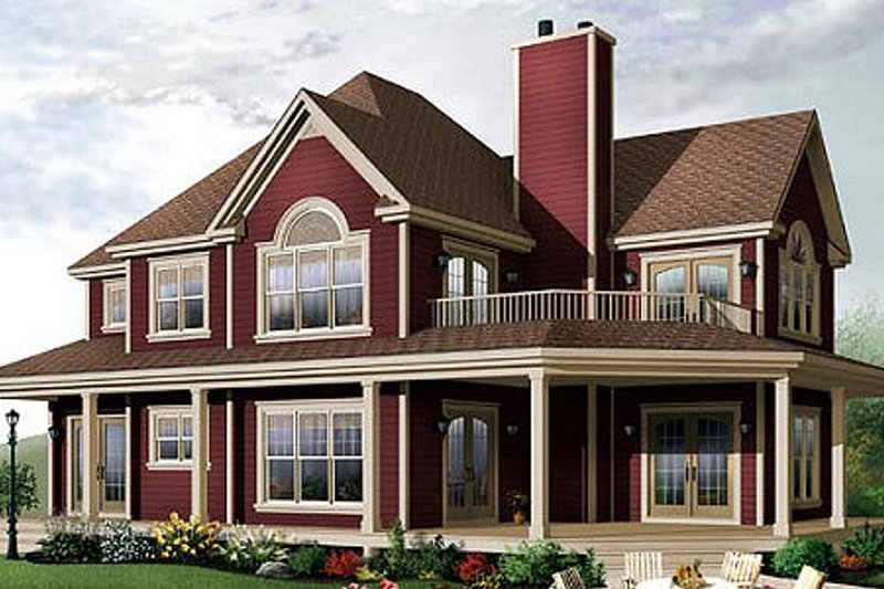 Country Exterior - Front Elevation Plan #23-744 - Houseplans.com