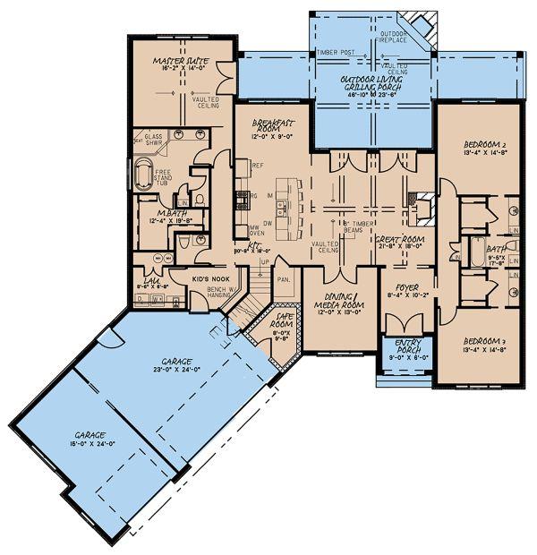 European Floor Plan - Main Floor Plan Plan #923-139
