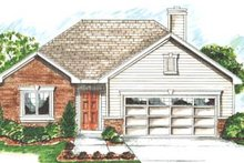 Traditional Exterior - Front Elevation Plan #20-1373