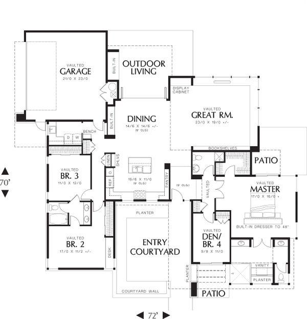 Modern Floor Plan - Main Floor Plan Plan #48-479