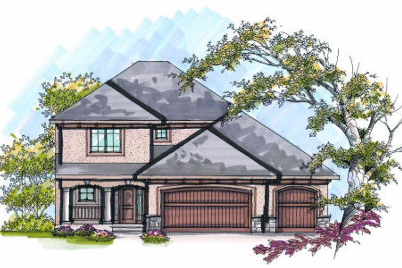 Dream House Plan - Traditional Exterior - Front Elevation Plan #70-976