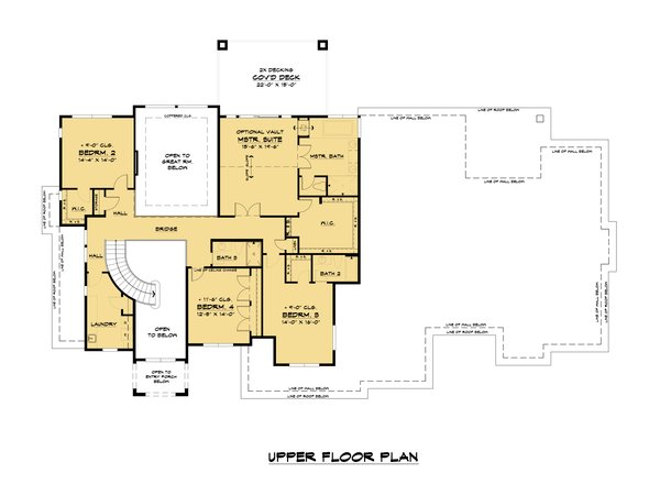 House Plan Design - Mediterranean Floor Plan - Upper Floor Plan #1066-111