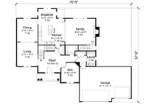 Traditional Floor Plan - Main Floor Plan Plan #51-398